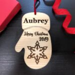 Baby's First Christmas Ornament, Personalized with Name and Date, Christmas Gift or Baby Gift, Personalized Baby's Christmas Gift, Keepsake 2