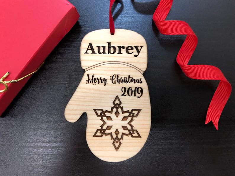 Baby's First Christmas Ornament, Personalized with Name and Date, Christmas Gift or Baby Gift, Personalized Baby's Christmas Gift, Keepsake 6
