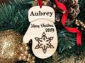 Baby's First Christmas Ornament, Personalized with Name and Date, Christmas Gift or Baby Gift, Personalized Baby's Christmas Gift, Keepsake 18