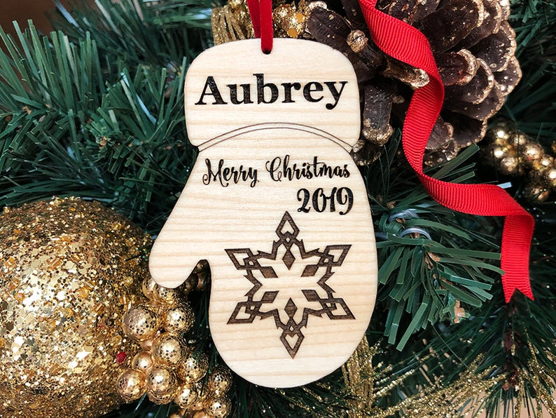 Baby's First Christmas Ornament, Personalized with Name and Date, Christmas Gift or Baby Gift, Personalized Baby's Christmas Gift, Keepsake 17