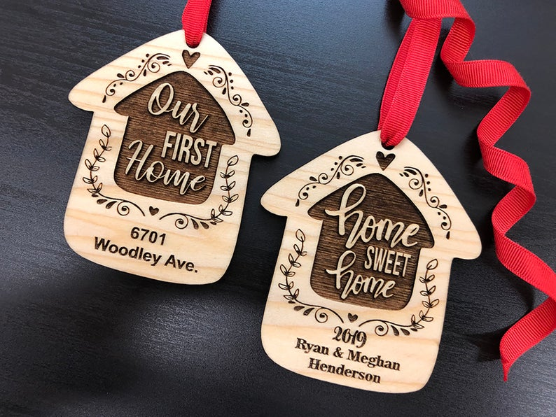 Home Sweet Home Personalized Christmas Ornament, New Home Ornament, Our First Home, Real Estate Agent, Realtor Gift, New House Ornament 15