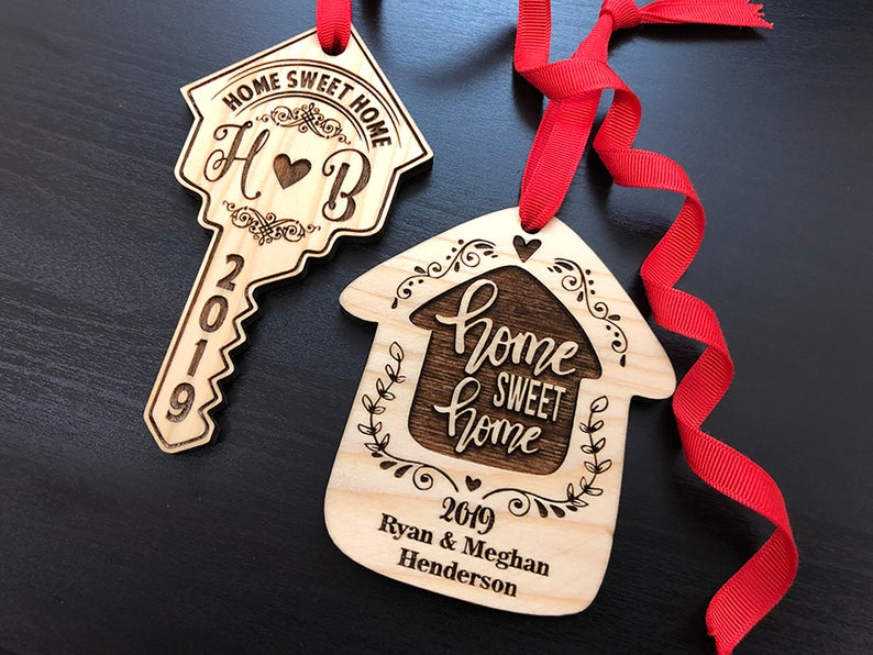 Housewarming Gift, New Home Housewarming Gift, First Christmas in New Home Ornament, Personalized Christmas Ornaments, Home Sweet Home Gift 11