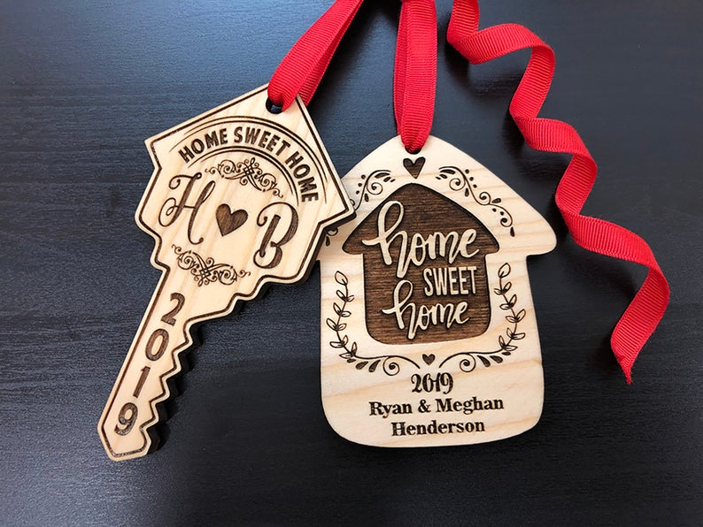 Housewarming Gift, New Home Housewarming Gift, First Christmas in New Home Ornament, Personalized Christmas Ornaments, Home Sweet Home Gift 15
