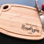Personalized Cutting Board - Arch Bamboo - Anniversary - House Warming - Custom Wedding Gift - Unique Gift - Realtor gifts - Closing Gift 4