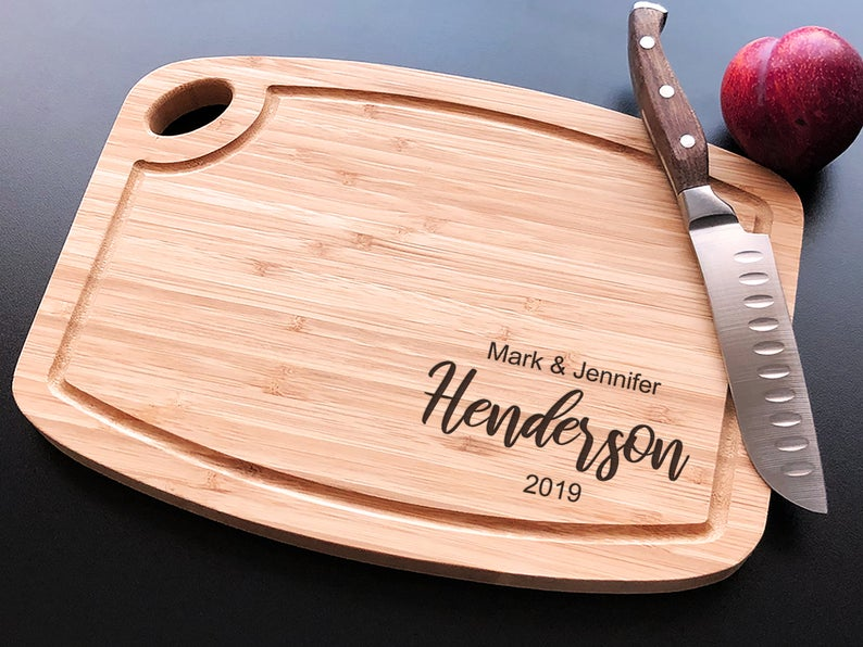 Personalized Cutting Board - Arch Bamboo - Anniversary - House Warming - Custom Wedding Gift - Unique Gift - Realtor gifts - Closing Gift 6
