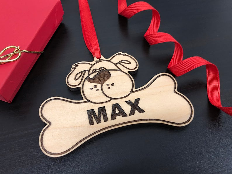 Dog Christmas Ornament, Dog Gift, Dog Ornament, Personalize with Name, Custom Dog Ornament, Christmas Gift for Dog Owner, Ornament for Dog 13