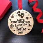Baby's First Christmas Ornament, Baby's First Christmas Ornament Baby's 1st Christmas Ornament First Christmas Baby's First Ornament Baby's 4