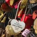 Personalized Heart Love Padlock With Key, Gold Love Lock Heart Lock, Custom Lock, Engraved Love Lock, Just Married, Engagement, Wedding Gift 24