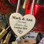 Personalized Love Lock - Padlock - Lock for Bridge - Engraved Padlock with Key, Gift for Lovers, Personalized Engagement Gift - Love Lock 4