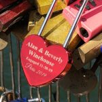Personalized Love Lock.Heart Shaped Love Lock. Personalized Wedding Gift, Padlock, Engraved Love Lock Padlock Engagement Gift, Locks of Love 2