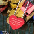 Personalized Love Lock - Red Heart Lock with Key - Personalized Heart Love Padlock - Engraved Love Lock - Engagement Gift 20