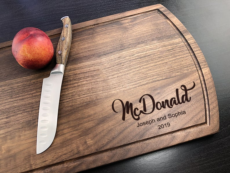 Personalized Cutting Board, Engraved Cutting Board, Walnut Cutting Board, Housewarming Gift, Engagement Gift, Housewarming, Christmas Gift 19