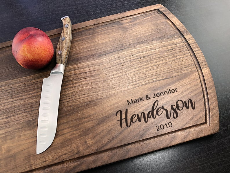 Personalized Cutting Board - Arch Bamboo - Anniversary - House Warming - Custom Wedding Gift - Unique Gift - Realtor gifts - Closing Gift 19