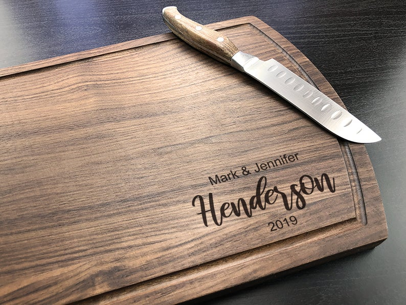 Personalized Cutting Board, Walnut Cutting Board, New Home Gift, Wedding Gift for the Couple, Housewarming Gift, Bride & Groom Gift 21