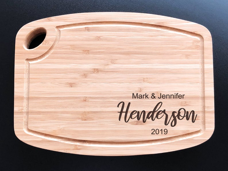 Personalized Cutting Board - Arch Bamboo - Anniversary - House Warming - Custom Wedding Gift - Unique Gift - Realtor gifts - Closing Gift 23
